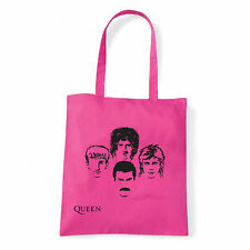 Art T-shirt, Borsa shoulder Queen Faces, Fucsia, Shopper, Mare