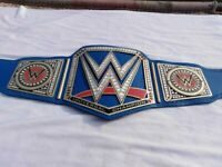 WWE Universal Championship Blue Replica Title Champion Belt Brass Plate, Leather