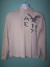 AMERICAN EAGLE Vintage Fit 1977 Mens Long Sleeve Hooded T Shirt Size M