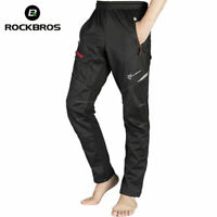 RockBros Winter Fleece Thermal Cycling Casual Pants Windproof Trousers Black
