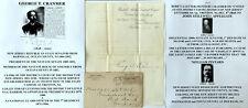 1880s SENATOR BARNEGAT NJ SENATE PRESIDENT DISTRICT COURT CRANMER LETTER SIGNED!