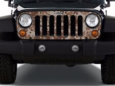 Camouflage Grill Wrap Vinyl Decal fits to Wrangler Rubicon TJ LJ JK Unlimited