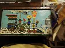 New ListingVintage Circus Train Tin Coin Bank