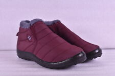 Women's BJ Slip On Insulated Winter Boots, Wine Red, 8.5M