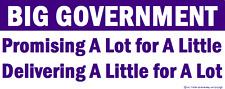 Conservative Anti Big Goverment Bumper Sticker Funny