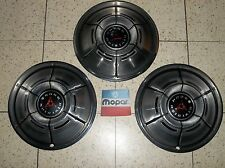 "MOPAR 14"" HUB CAPS, SET OF 3: 70-71 DODGE CHARGER, DART,CORONET, OEM, SUPER NICE"