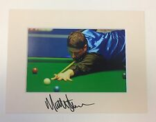 An 8 x 6 inch mount with photo signed by Snooker Player Matthew Stevens.