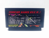 Super 852 in 1 Forever games 60 Pins Game Cartridge support save progress 8 bit