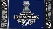 Tampa Bay Lightning 2020 Champion Flag 3 x5 Stanley Cup Black Sides NHL Champion