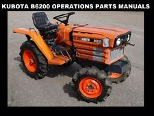 KUBOTA B6200 OPERATION & PARTS MANUALs 250pg for B 6200 D Diesel Tractor Service
