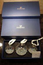 *NEW* Swarovski Crystal Set of 3 BALLS Annual Edition Christmas Ornament Set