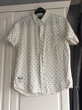 Crosshatch Men's Size Large Short Sleeve Holiday Shirt 100% Cotton Excellent Con