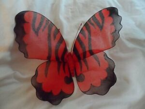 butterfly wings window display home decor red black Christmas decoration