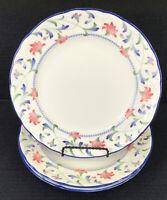 """Epoch Collection Indigo Garden E 137 Set Of 3 Dinner Plates 10.75"""" Noritake"""