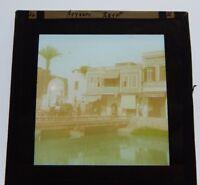 Fayoum Egypt  Antique Glass Slide Magic Lantern  Photograph hand coloured
