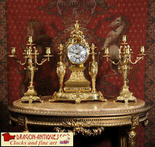 French Bronze Antique Mantel & Carriage Clocks with Chimes