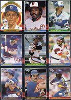 1985 Donruss Baseball 9 card advertising promo sheet