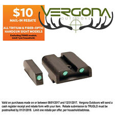 New 2016 Truglo Tritium Sight Brite Site For Glock 42 & 43 TG231G1A