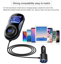 Wireless Car Audio Adapter Bluetooth 4.2 FM Transmitter for iPhone 8 X & Samsung