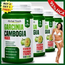 3000mg GARCINIA CAMBOGIA 95%HCA Capsules Fat Burner Vegetarian Weight Loss Diet