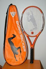 Rare Boris Becker 11 Jr. tennis racquet orange black 100 sq in