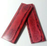 130mm Pair Red Pakka Wood Scales Knife Handle Making Blanks