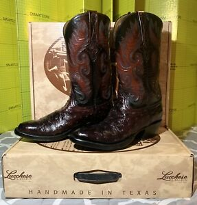 (NEW) Lucchese Mens Classic Cowboy Boots Size (8D) New Old Stock