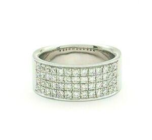 Ladies Ring 18ct (750, 18K) White Gold Natural (0.81ct) Diamond Dress Ring