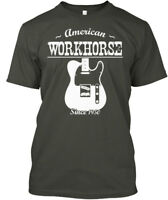 American Workhorse Telecaster - Since 1950 Hanes Tagless Tee T-Shirt