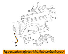TOYOTA OEM Tacoma Pick Up Box Bed-Side Panel Front Support Right 6567104050