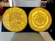 "PAINTING (NOT COIN): MEXICO 1711 ROYAL ""FLEET SHIPWRECK"" ESCUDOS  GOLD TREASURE"