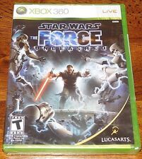 Star Wars The Force Unleashed 1 Microsoft Xbox 360 GAME 2008 NEW Original Sealed