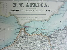 1910 MAP ~ NORTH WEST AFRICA ~ SOUTH AFRICA CAPE COLONY ELECTORAL DIVISIONS
