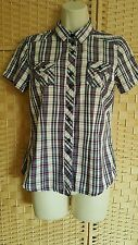 Checked Short Sleeve Petite Tops & Shirts for Women