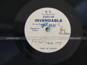 """test pressing RAY VENTURA un rêve près de vous ~ 78 tours/RPM 10"""" (Echantillon)"""