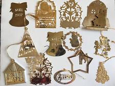 brass Christmas ornaments lot