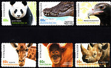 Australia 2012 Fauna Zoo Animals Complete Set in Self Adh Stamps Postally Used