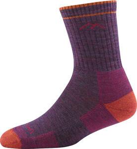 Darn Tough 1903 Plum Hiker Micro Crew Cushion Merino Wool Sock Women's S MED L