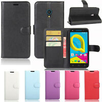 Premium Leather Wallet TPU Case Cover For Optus X Spirit 4G Screen Protector