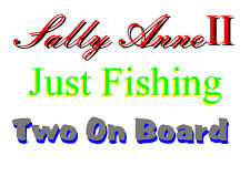Boat Graphic Names Vinyl Signs,Decals 2 x 600mm x 100mm