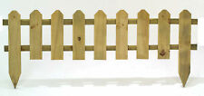 400mm Fixed Picket Fence Edging / Graden Edge