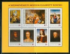HUNGARY-1984.Souv.Sheet - Stolen Paintings from.. MNH!!