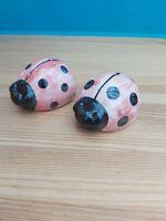 Salt & Pepper Ladybird Ceramic Novelty Set  Salt & Pepper Ladybug Design