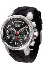 Jorg Gray JG5600-21 Mens Watch Chronograph Black Dial Integrated Black Strap