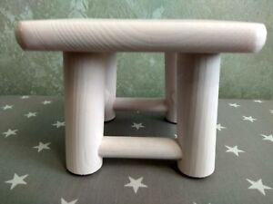 Kids Childrens Childs Wooden Stool Chair mini pink