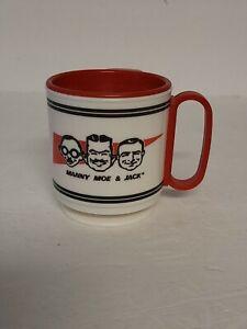 Vintage Pep Boys Manny Moe & Jack Travel Plastic Coffee Mug Whirley Ind. USA -1