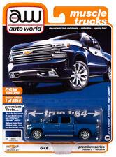 2020 Auto World 1:64 *Premium 2A* Blue 2019 Chevrolet Silverado High Country