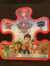 Nickelodeon Paw patrol 8 pack of Puzzles in Plastic Storage Container Tub New!