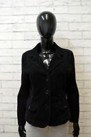 Armani Jeans Giacca Size 44 Cappotto Jacket Donna Giubbotto Elastica Blu Costine