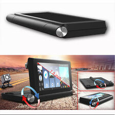 "New Folding HD Dual Car Kit DVR Camera GPS Navigation Android 7"" Touch WiFi ADAS"